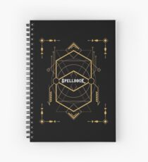 Wizard Spellbook - Magic and Curses Wizardry and Witchcraft Tabletop RPG Gaming Spiral Notebook
