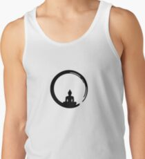 Enso Zen Circle of Enlightenment, Meditation, Buddha, Buddhism, Japan Tank Top