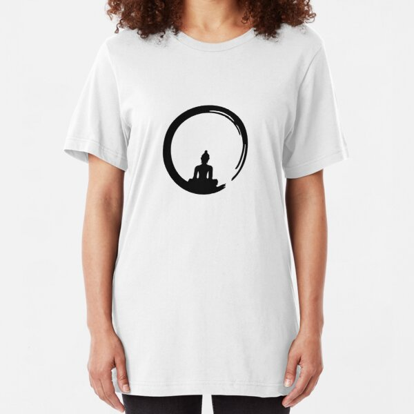Enso Zen Circle of Enlightenment, Meditation, Buddha, Buddhism, Japan Slim Fit T-Shirt