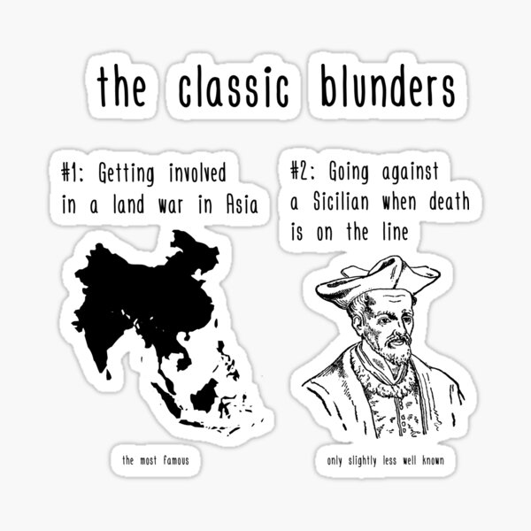 The Classic Blunders Sticker