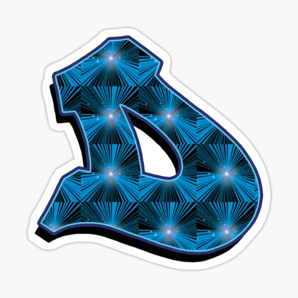 D - Blue Rays Sticker