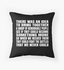 There was an idea Throw Pillow