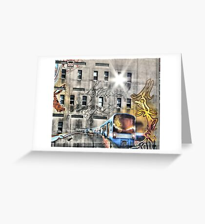 Metro Street Art In Montreal Quebec Canada  Greeting Card