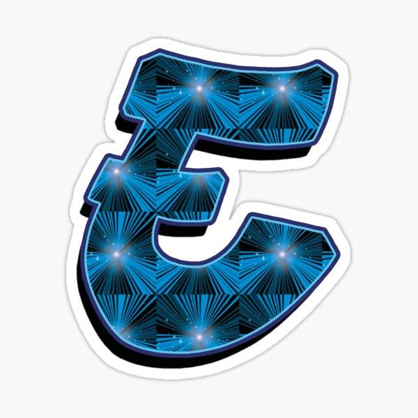 E - Blue Rays Sticker