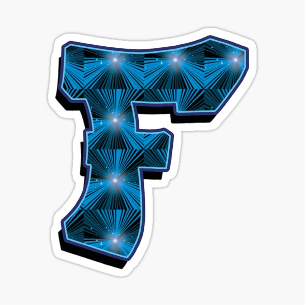 F - Blue Rays Sticker