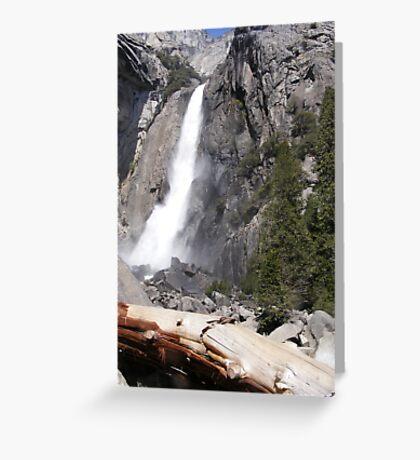 Lower Yosemite Falls Greeting Card