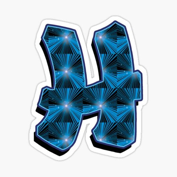 H - Blue Rays Sticker