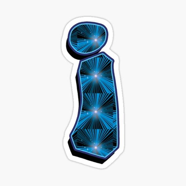 i - Blue Rays Sticker
