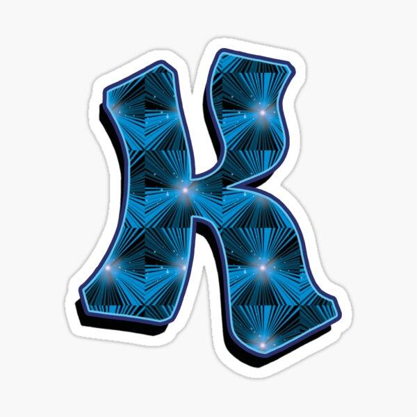 K - Blue Rays Sticker
