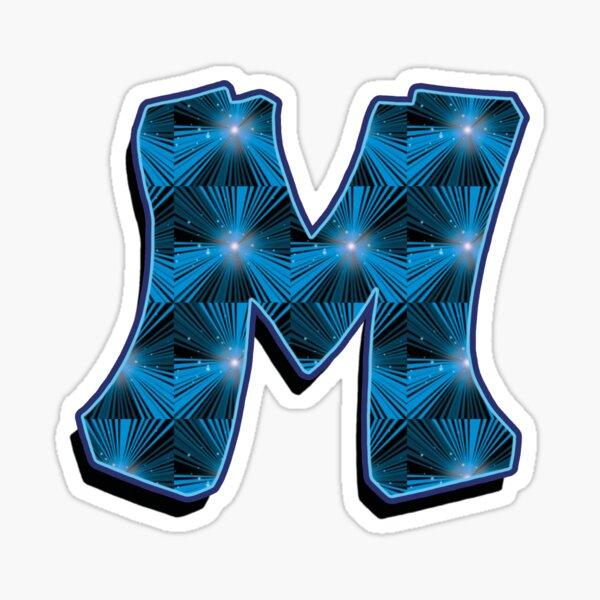 M - Blue Rays Sticker