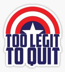 Captain - too legit 2 Sticker