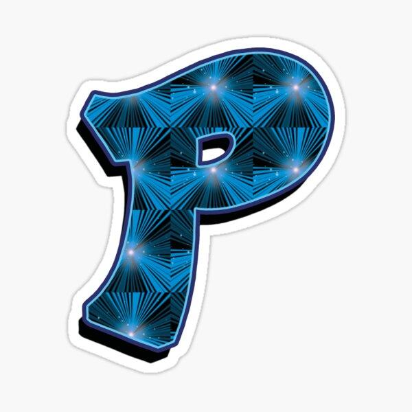P - Blue Rays Sticker