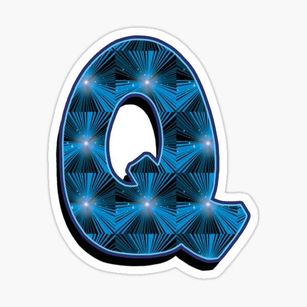 Q - Blue Rays Sticker