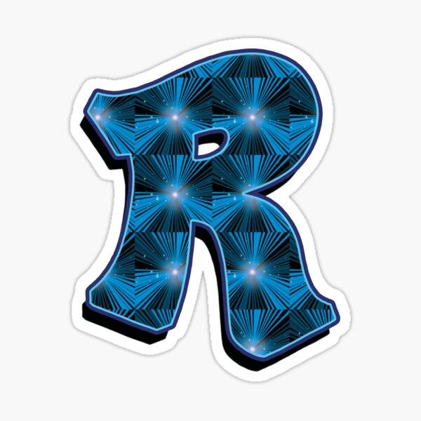 R - Blue Rays Sticker
