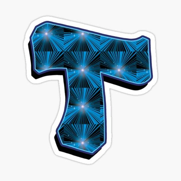 T - Blue Rays Sticker