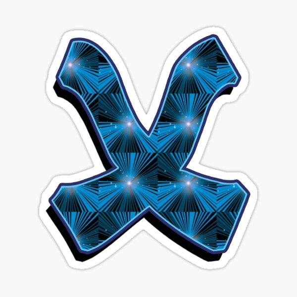 X - Blue Rays Sticker