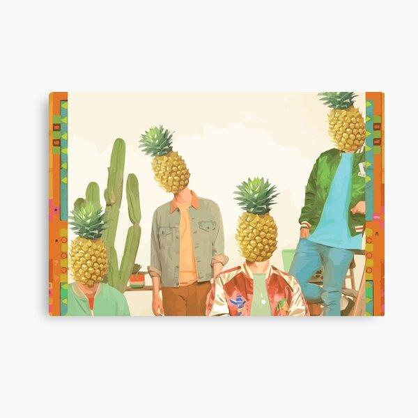Glass Animals Pineapple Heads Canvas Print
