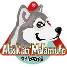 Alaskan Malamute On Board - Gray by DoggyGraphics