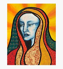 The wise woman mixed media portrait Photographic Print
