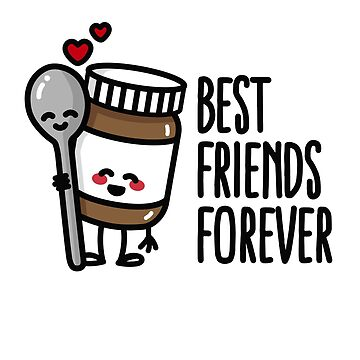 Best friends forever chocolate spread / spoon BFF by LaundryFactory