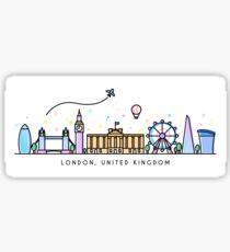 London Skyline. United Kingdom, Great Britain Sticker