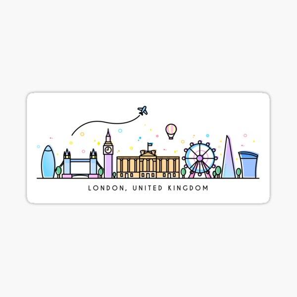 London Skyline. Royaume-Uni Sticker