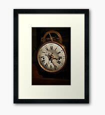 antique clock   Framed Print