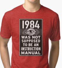 1984 Instruction Manual Tri-blend T-Shirt