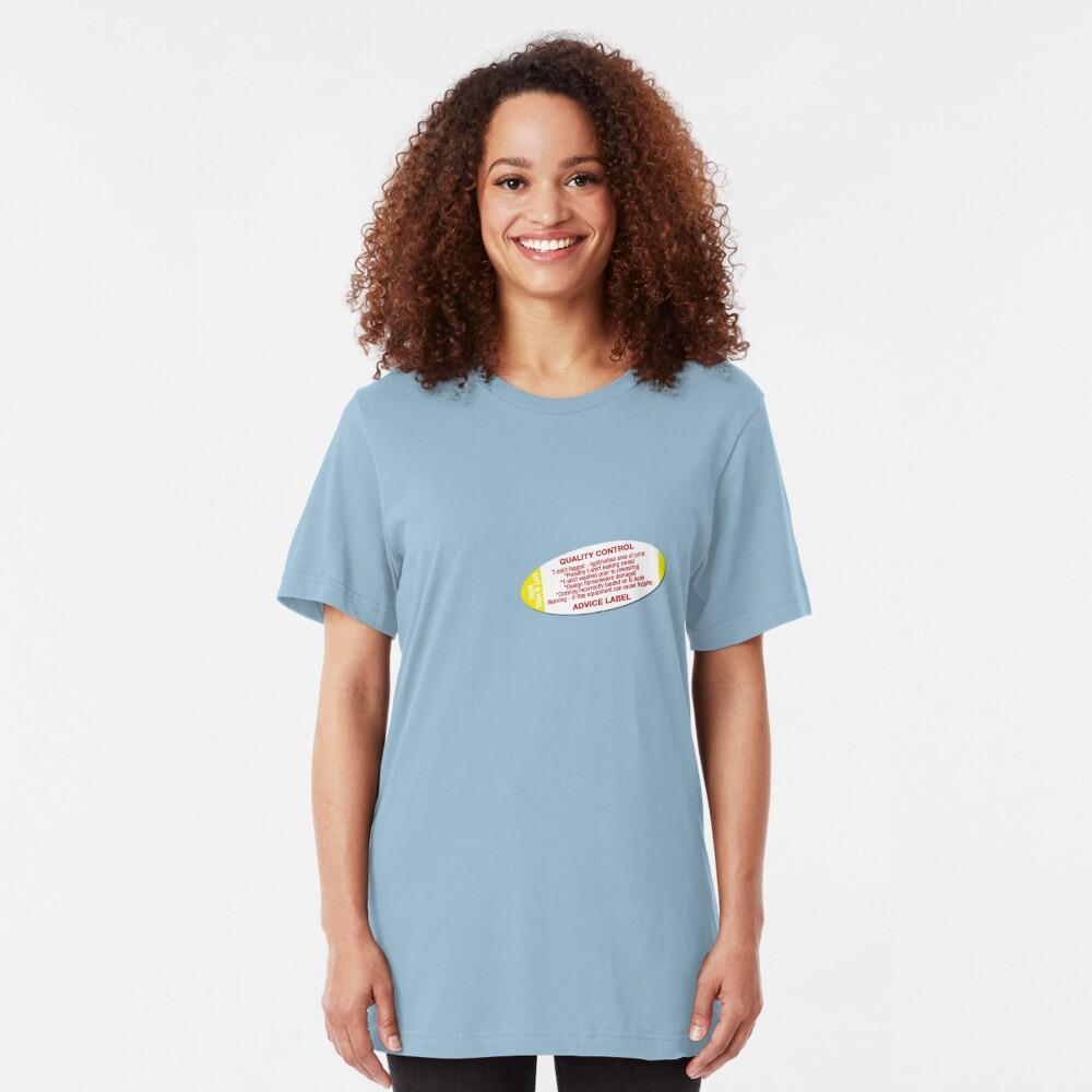 Quality control advice label Slim Fit T-Shirt