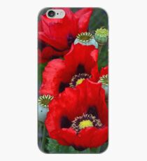 Rote Mohnblumenblumen iPhone-Hülle & Cover