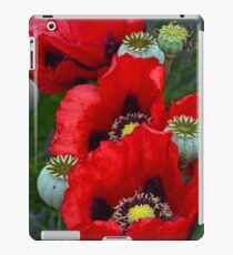 Red poppy flowers iPad Case/Skin
