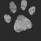 White Dog Paw Print - Unique Pet Lovers Graphic Design by superdazzle