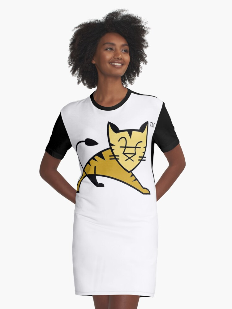 Apache Tomcat Graphic T-Shirt Dress Front