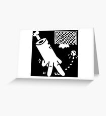 Ghost The GoalKeeper Greeting Card