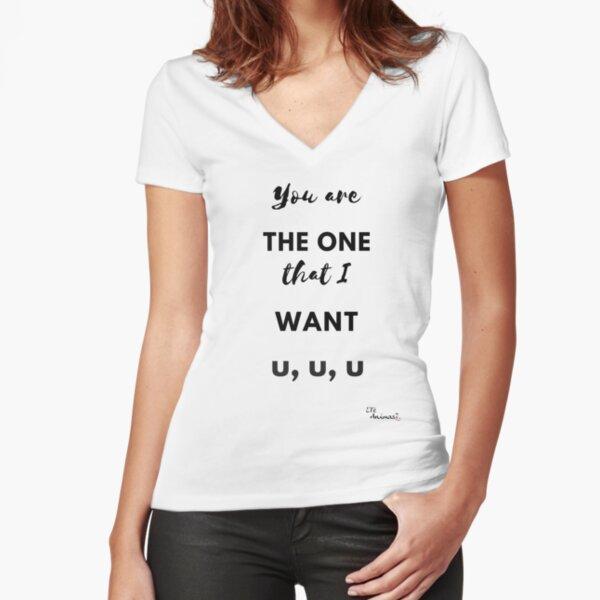 Camiseta You are The One Camiseta entallada de cuello en V