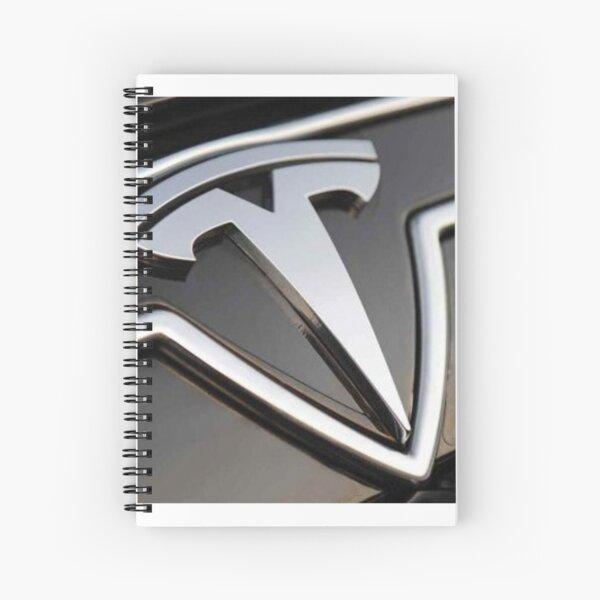Tesla logo Spiral Notebook