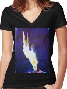 The Withered Hand of Defiance Women's Fitted V-Neck T-Shirt