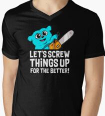 Chainsaw Beebo Men's V-Neck T-Shirt