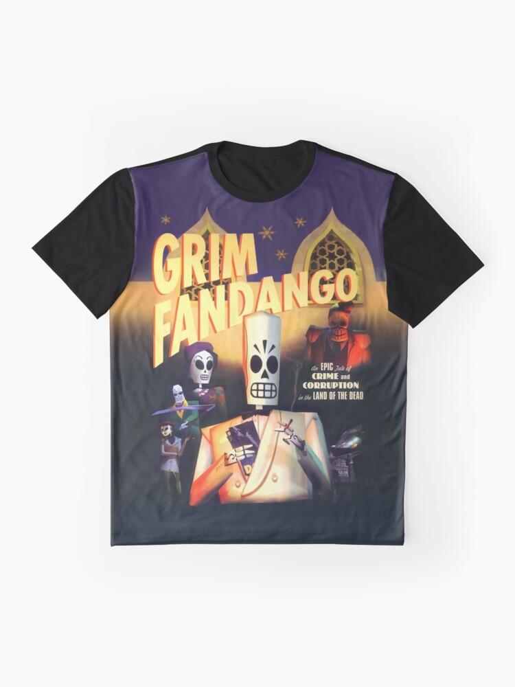 Alternative Ansicht von Grim Fandango (Hoher Kontrast) Grafik T-Shirt