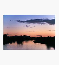 Sunset at Willington Photographic Print