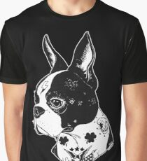 Tattooed Boston Terrier  Graphic T-Shirt