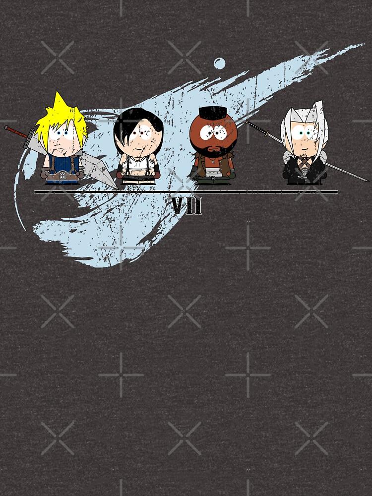 Final Fantasy VII - South Park by robotplunger