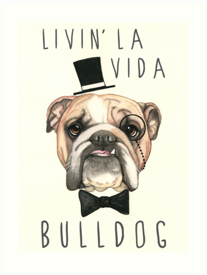 VIDA Tote Bag - Bulldog 1 by VIDA HKd3V