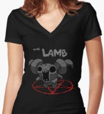 Binding of Isaac: The Lamb Women's Fitted V-Neck T-Shirt