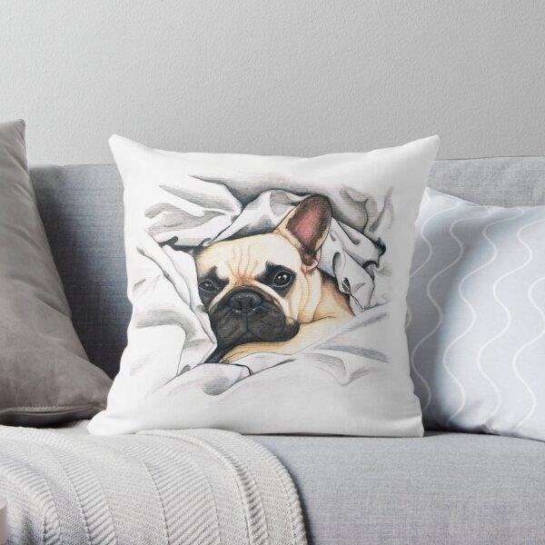 french bulldog - @MiudaFrenchie Throw Pillow