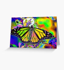 Psychedelic Monarch Greeting Card