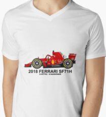2018 FERRARI SF71H T-shirt col V homme