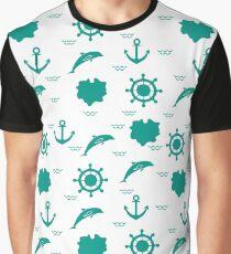 Seamless marine pattern. Graphic T-Shirt