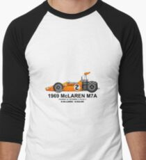 McLAREN M7A 1969 T-shirt baseball manches ¾