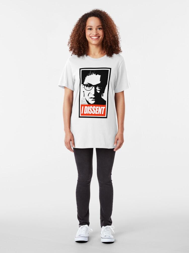 Alternate view of RBG - I Dissent Slim Fit T-Shirt